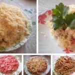 Салат с куриным филе сухариками фото