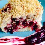Быстрый пирог с ягодами и песочной крошкой