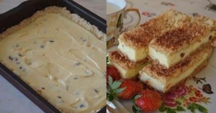 Песочный пирог с творогом - настоящее объедение за пару минут! Получается вкусным и нежным.