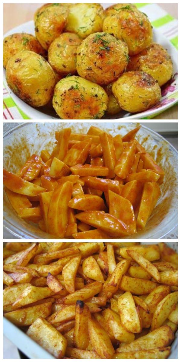 Картофель с медом в духовке В ТАКОМ ИСПОЛНЕНИИ УХОДИТ ВЛЕТ