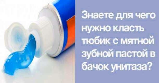 Знаете, для чего нужно класть тюбик с мятной зубной пастой в бачок унитаза?