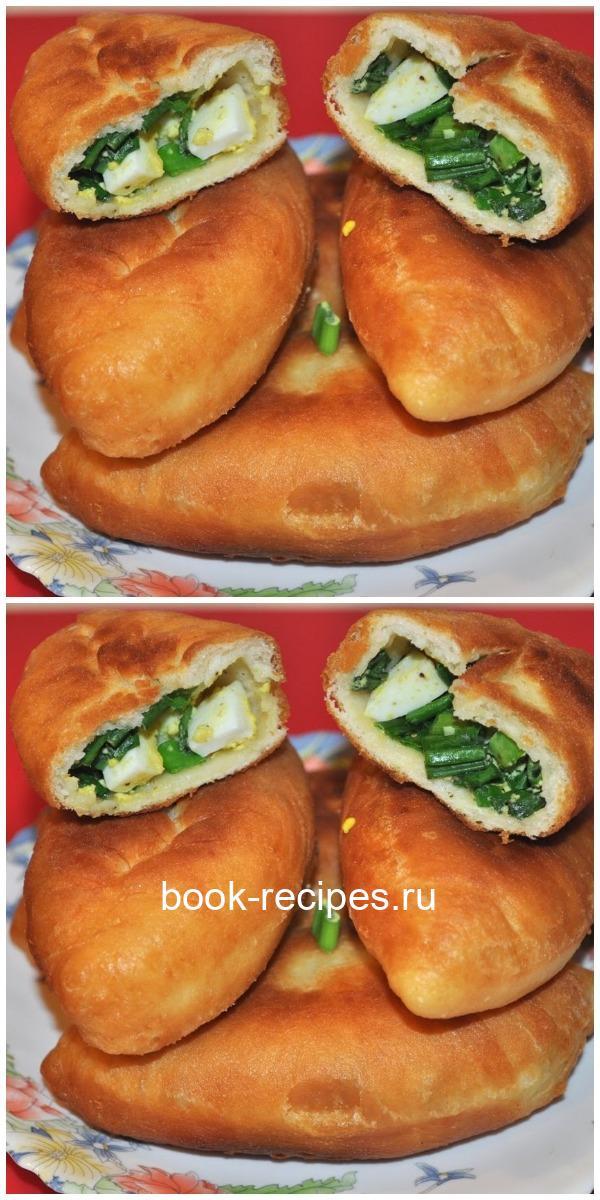 Пирожки с зеленым луком и яйцом — муж готов съесть вместе с тарелкой