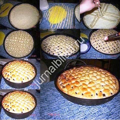 Яблочный пирог с творожной заливкой фото