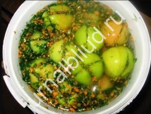 Квашенные зеленые помидоры фото