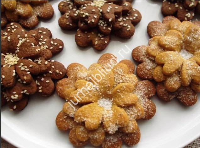 Песочное печенье Цветок фото