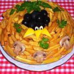 Салат Птичье гнездо фото