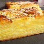Нежный яблочный пирог, мало теста и много ароматной начинки.