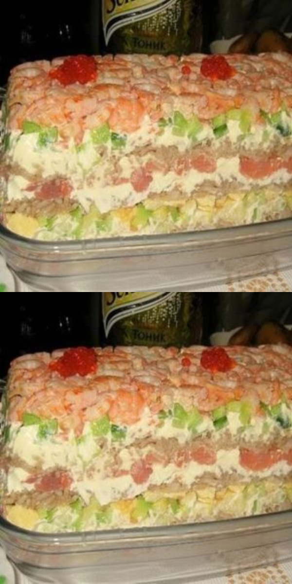 Салат «СУШИ» станет прекрасным решением для любителей суши, у которых нет времени или желания крутить роллы.