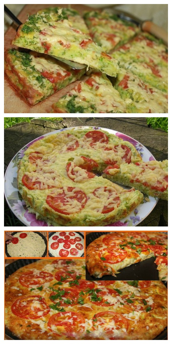 Для тех, кто на диете: Кабачковая пицца: можно даже на ночь!