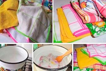 Экономичный и работающий способ отстирать кухонные полотенца 1