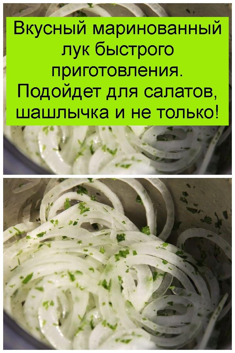 Вкусный маринованный лук быстрого приготовления. Подойдет для салатов, шашлычка и не только 4
